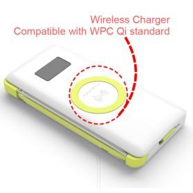 Pineng Qi Wireless Charging Power Bank Built-in Micro USB Cable 10000mAh QC3.0 - PN-888 - White - 6