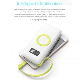 Pineng Qi Wireless Charging Power Bank Built-in Micro USB Cable 10000mAh QC3.0 - PN-888 - White - 9