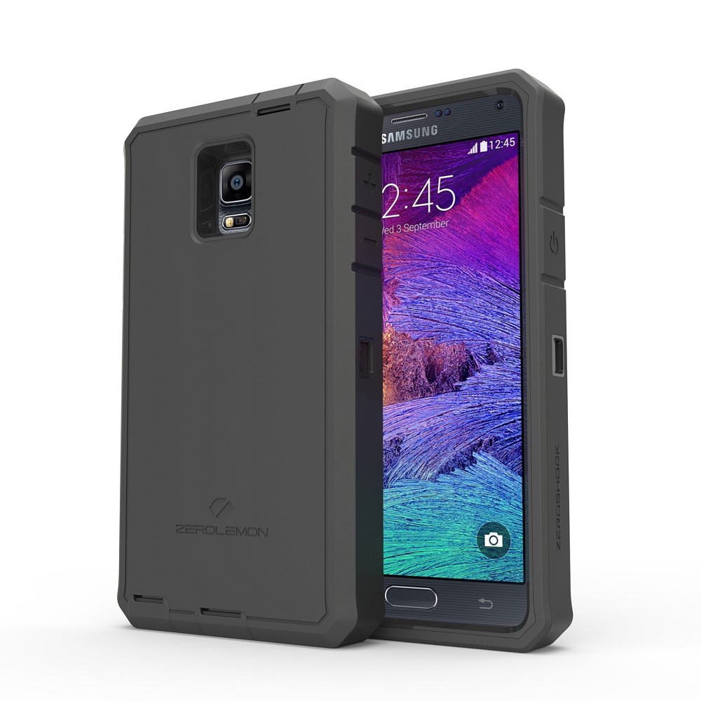 promo code f6967 3f0f4 ZeroLemon Zero Shock Samsung Galaxy Note 4 Battery Charging Case 10000mAh  with NFC & Belt Clip Holster - Y668 - Black
