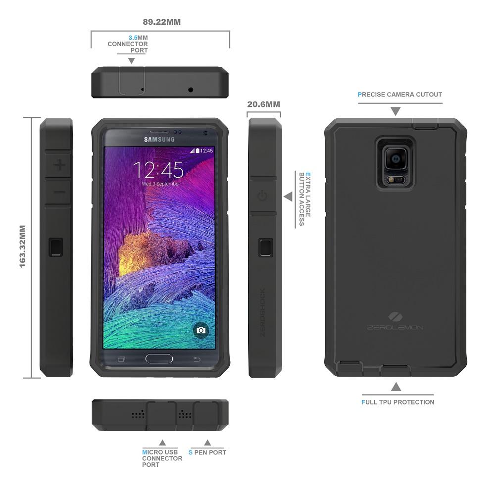 Zerolemon Zero Shock Samsung Galaxy Note 4 Battery