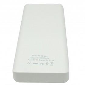 Sinofer Power Bank Ultra Thin Polymer 10000mAh - White - 2
