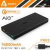 Aukey Power Bank 2 Port 2.4A 16000mAH QC2.0 & AiPower - Black