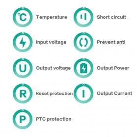 Aukey Power Bank 2 Port 2.4A 16000mAH QC2.0 & AiPower - Black - 6