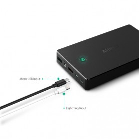 Aukey Power Bank 20000mAh 2 Port Quick Charge 3.0 - PB-T10 - Black - 2