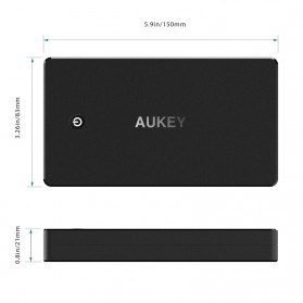 Aukey Power Bank 20000mAh 2 Port Quick Charge 3.0 - PB-T10 - Black - 5