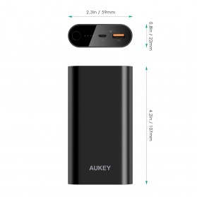 Aukey Power Bank 10500mAh USB Port Quick Charge 3.0 - PB-T15 - Black - 5