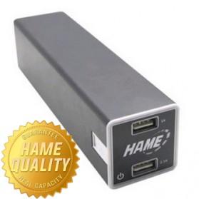 Hame Power Bank 22400mAh Dual USB Output - HM-P8 - Black