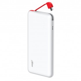 Paket Hame T6 Power Bank 10000mAh - HAME-T6 + Flat Silicone Suction Holder - White