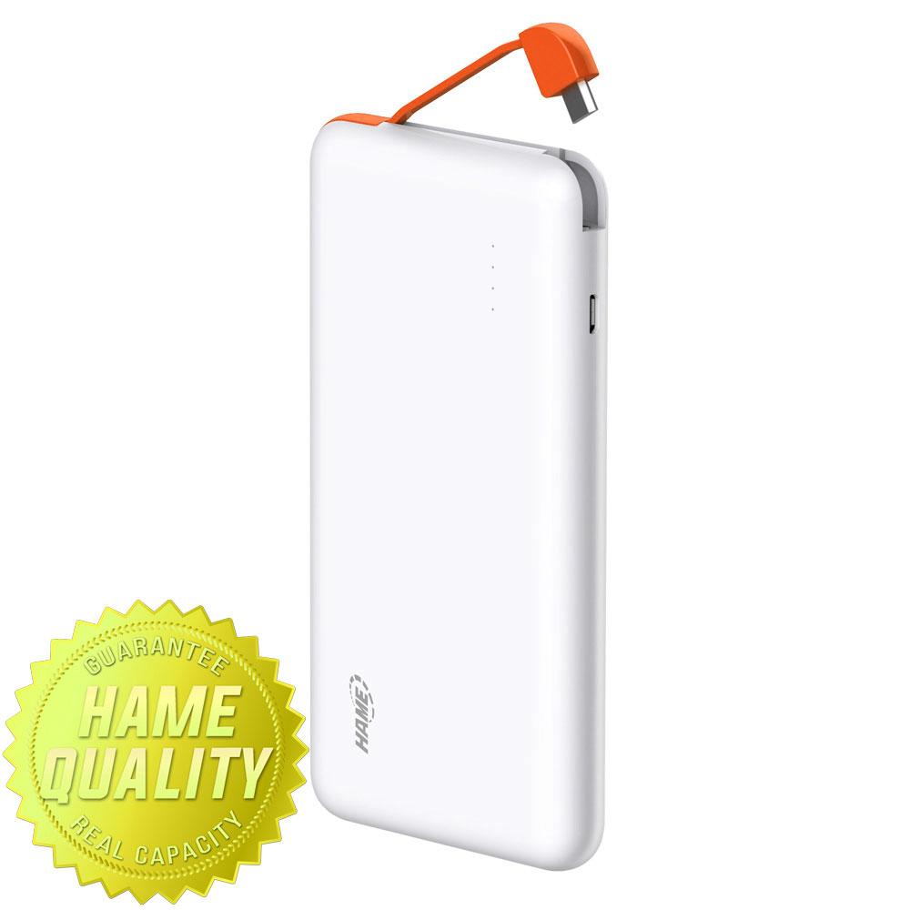 Hame Powerbank Harga Murah Charger Baterai Desktop 1 Slot Rokok Elektrik Kipas Pb T5 Power Bank 5000mah Orange