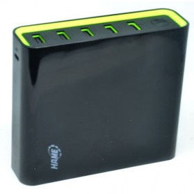 Hame H18 Power Bank 5 Output 20000mAh - Black