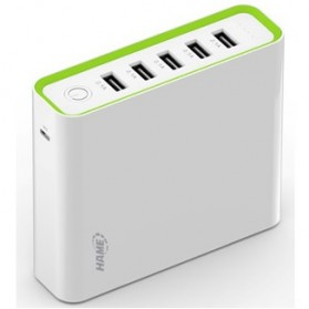 Hame H18 Power Bank 5 Output 20000mAh - White - 1
