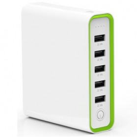 Hame H18 Power Bank 5 Output 20000mAh - White - 2