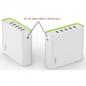 Hame H18 Power Bank 5 Output 20000mAh - White - 3