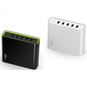 Hame H18 Power Bank 5 Output 20000mAh - White - 5