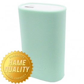 Paket Hame H13 Power Bank 10000mAh - HAME-H13 - Silver + Silicon Cover for Hame H16 & Hame H13 - Green
