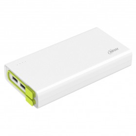 Hame X3 Power Bank 3 Port USB 20000mAh - White/Green