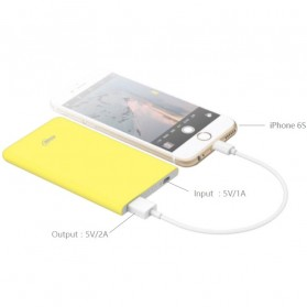 Hame X1 Power Bank 1 Port USB 4000mAh - White - 6
