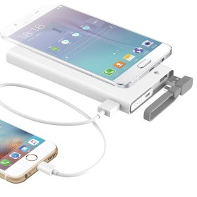 Hame QC1 Power Bank 2 Port 10000mAh Qualcomm Quick Charge 2.0 - White - 3