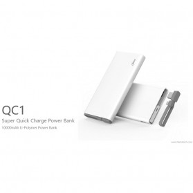 Hame QC1 Power Bank 2 Port 10000mAh Qualcomm Quick Charge 2.0 - White - 4
