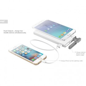 Hame QC1 Power Bank 2 Port 10000mAh Qualcomm Quick Charge 2.0 - White - 8