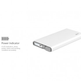 Hame QC1 Power Bank 2 Port 10000mAh Qualcomm Quick Charge 2.0 - White - 10
