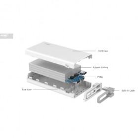 Hame QC2 Power Bank 3 Port 20000mAh QC2.0 - White - 9