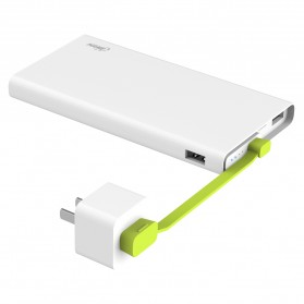 Hame X2 Power Bank 2 Port USB 10000mAh - White - 2