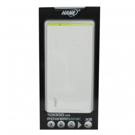 Hame X2 Power Bank 2 Port USB 10000mAh - White - 10