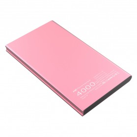 Hame T8 Power Bank 2 Port 4000mAh - Pink - 3