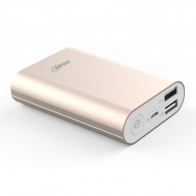 Powerbank - Hame H9D Power Bank 2 Port 7500mAh - Golden