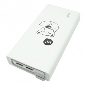 Hame QC2 Power Bank 3 Port 20000mAh QC2.0 Edisi Kartun - White