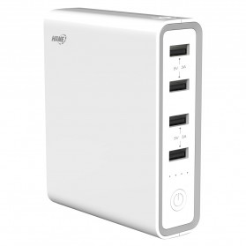 Hame H20 Power Bank 4 USB + 1 USB Type C 20000mAh - White