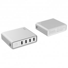 Hame H20 Power Bank 4 USB + 1 USB Type C 20000mAh - White - 2