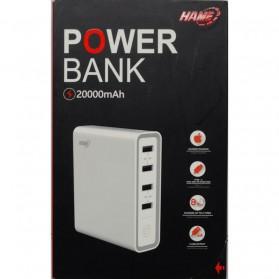 Hame H20 Power Bank 4 USB + 1 USB Type C 20000mAh - White - 4