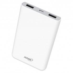 Hame X1P Power Bank 2 Port USB 8000mAh - White - 2