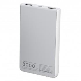 Hame X1P Power Bank 2 Port USB 8000mAh - White - 3