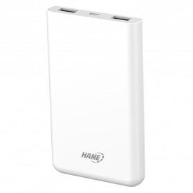 Hame X1P Power Bank 2 Port USB 8000mAh - White - 4
