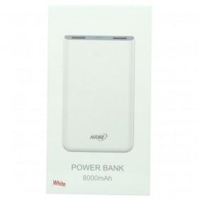 Hame X1P Power Bank 2 Port USB 8000mAh - White - 11