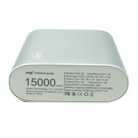 Hame H14D Power Bank QC 3.0 15000mAh - Silver - 2