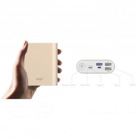 Hame H14D Power Bank QC 3.0 15000mAh - Silver - 5