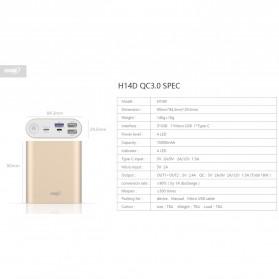 Hame H14D Power Bank QC 3.0 15000mAh - Silver - 9