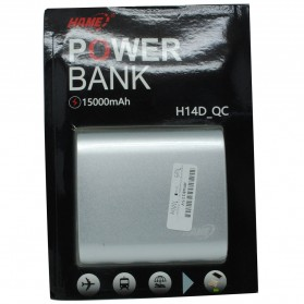 Hame H14D Power Bank QC 3.0 15000mAh - Silver - 10