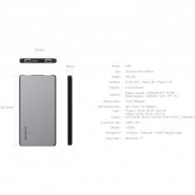 Hame P49C USB Type C Power Bank 2 Port 5000mAh - Gray - 6