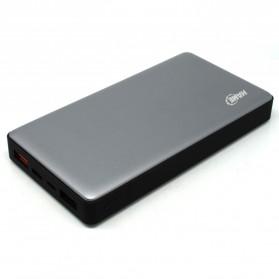 Hame P51C USB Type C Power Bank 2 Port 15000mAh - Gray Silver