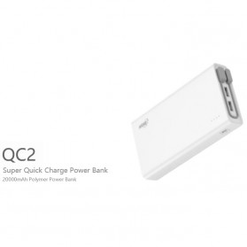 Hame QC2 Power Bank 3 Port 20000mAh QC3.0 - White - 3