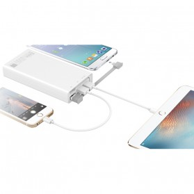 Hame QC2 Power Bank 3 Port 20000mAh QC3.0 - White - 4