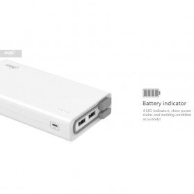 Hame QC2 Power Bank 3 Port 20000mAh QC3.0 - White - 7