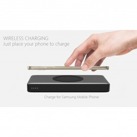 Hame Wireless Quick Charge Power Bank 10000mAh - P51W - Black - 4