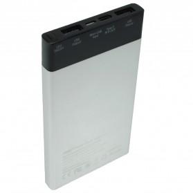 Hame P61 Power Bank 2 Port & Type C 6000mAh - P61 - Silver - 2