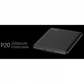 Hame P20 Power Bank 2 Port 20000mAh - Black